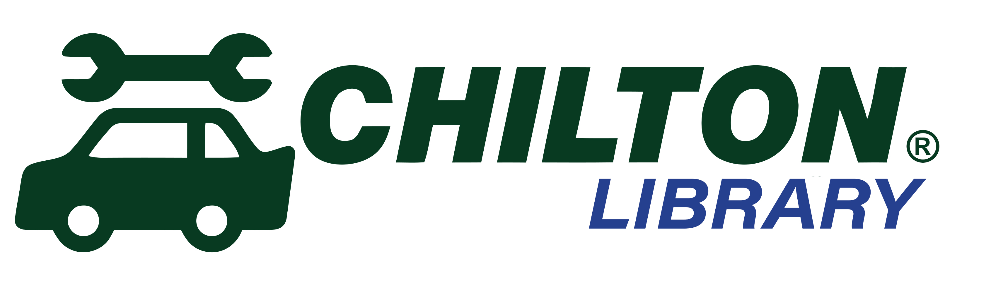 Chilton Library Logo with car and wrench